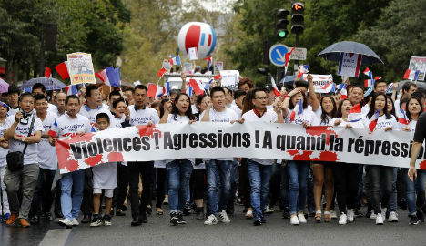Chinese Parisians march for greater security