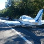 IN PICS: Pilot lands private plane on French highway