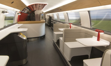 Take a look inside France's newest high-speed train