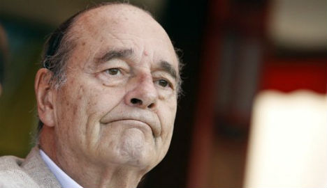 Former French president Chirac admitted to hospital