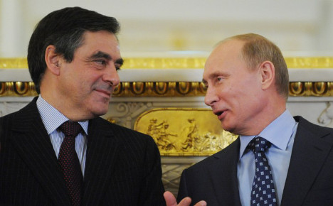 Fillon praised in Russia but mocked in Germany