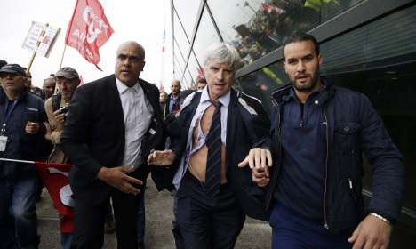 Three ex-Air France staff found guilty in shirt-ripping trial