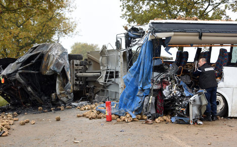 One dead after school bus collides with truck in France