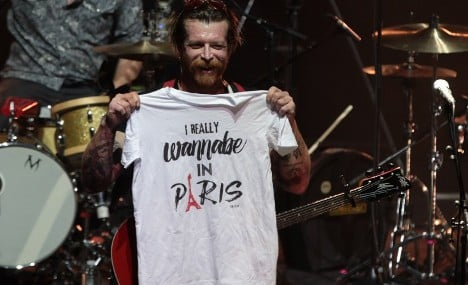 Eagles of Death Metal 'thrown out' of Bataclan reopening