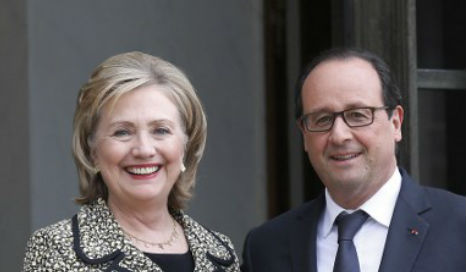 Hollande distantly related to Hillary Clinton, claims book