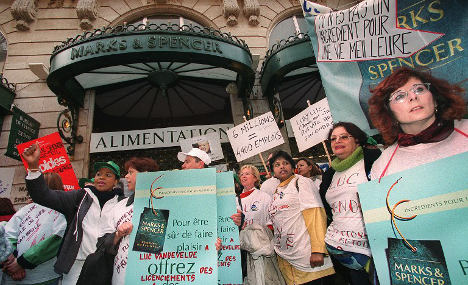 French unions line up for new fight with Marks & Spencer