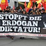 Kurds march against Erdogan in Germany and France