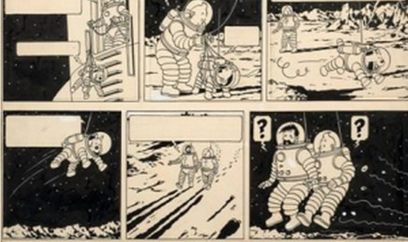 Tintin drawings sell for record €1.55m at Paris auction