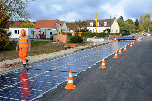 Normandy village home to world's first solar panel road