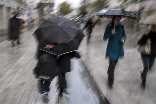 Downpours, storms, and snow put parts of France on alert