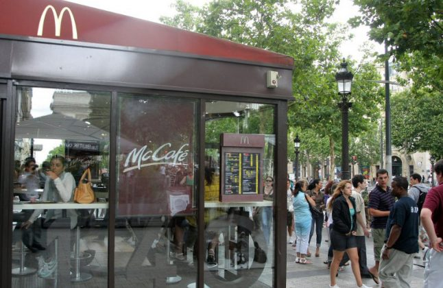 US fast food giant opens burger battle with 'McDo' on Champs-Elysées