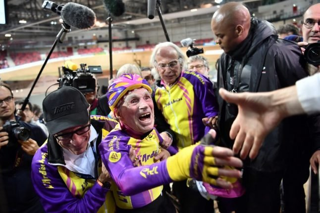 105-year-old French cyclist breaks world record
