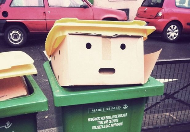 IN PICTURES: Paris bin that looks like Donald Trump becomes internet sensation