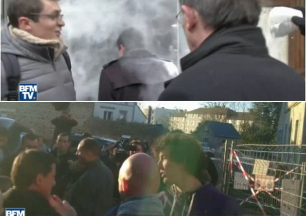 VIDEO: First a flour bomb, now ex-French PM gets a slap on the campaign trail