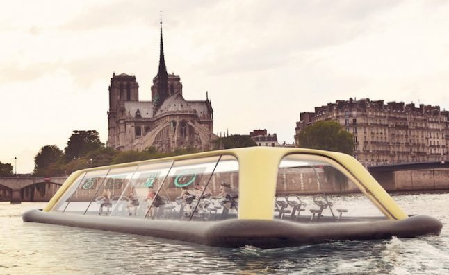 This gym boat could give Parisians the most in-Seine workout there is