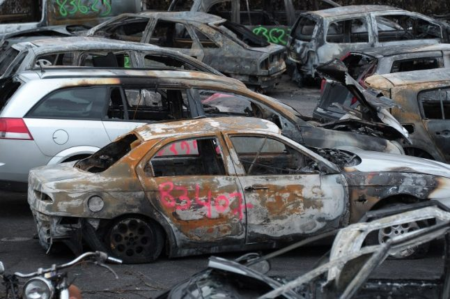 France sees 650 cars torched on New Year's Eve