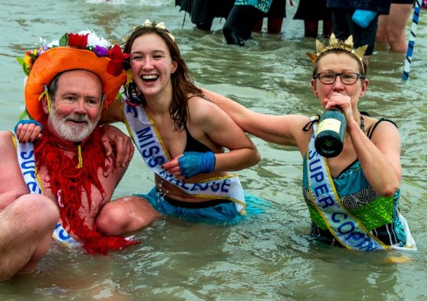 IN PICS: The French hit the beach for New Year's Day