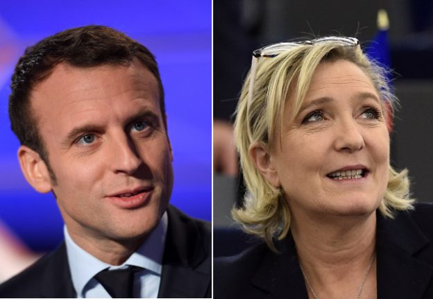 Le Pen says clash with Macron would be a dream