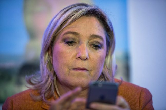 Le Pen follows Trump's lead by aiming to rule Twitter as she bids to rule France