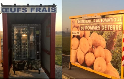Welcome to France - where pig's entrails, eggs and cheese are sold in vending machines