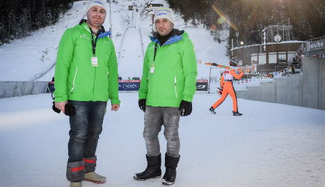 Iraqi refugees brave cold as World Cup ski volunteers