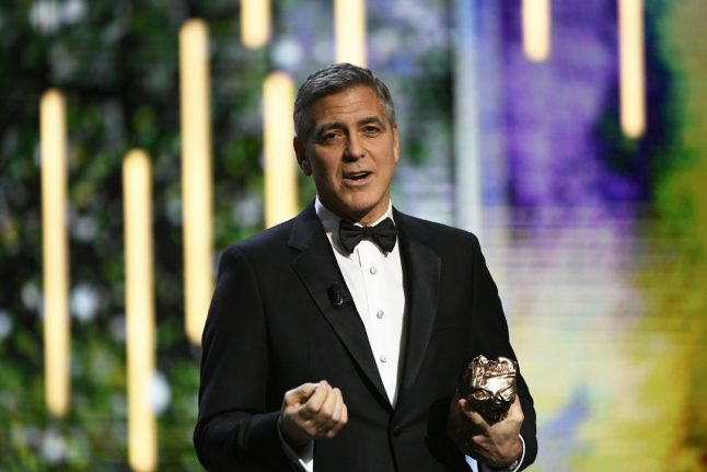 Clooney blasts Trump as Huppert's 'Elle' wins at 'French Oscars'