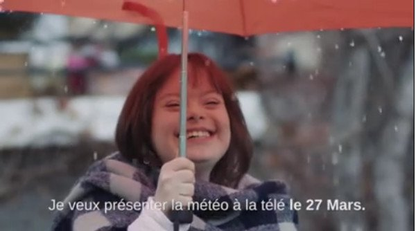Down's Syndrome woman to present weather on French TV after winning hearts