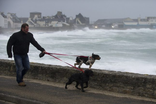 France pummeled by storm winds of over 150km/hr
