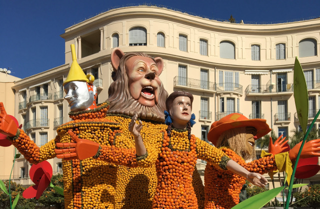 See what the French can do when they blend Broadway and 140 tonnes of citrus fruit