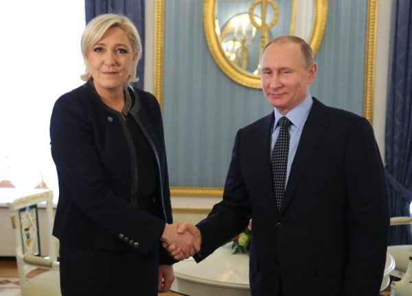 Marine Le Pen meets with Putin in Moscow