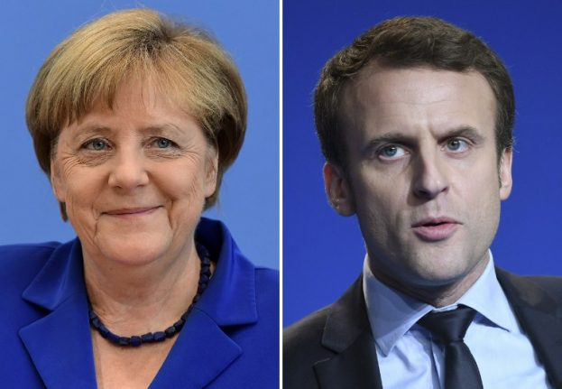 Macron hopes meeting with Merkel will boost image as real contender