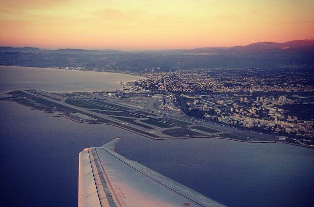 Is Nice airport the most spectacular place in the world to land at?