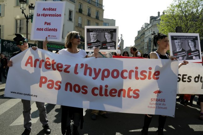 Sex workers protest in Paris against penalising clients