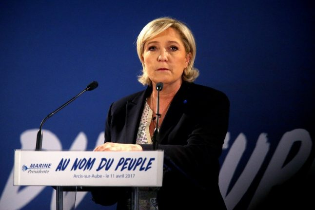Le Pen will move immediately to close France's borders if elected
