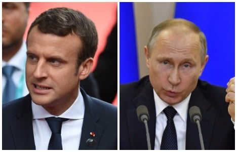 Putin, Macron to air tough issues at Versailles meet