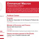Want to know more about Emmanuel Macron? Check out his impressive CV