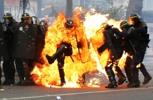 Violence mars pre-election May Day marches in France