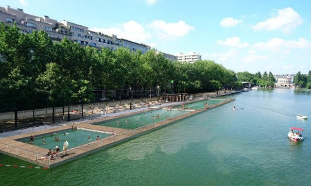 Paris canal swimming set for summer go ahead after tests show water is clean (enough)