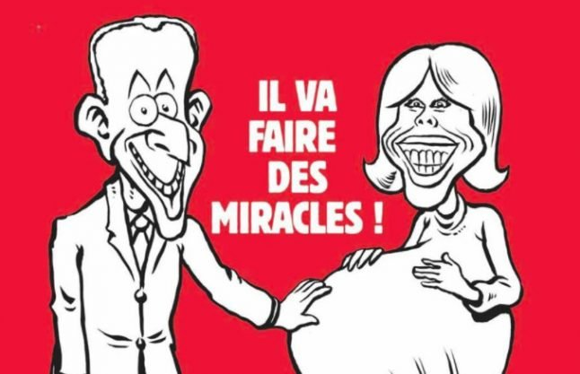 Charlie Hebdo in hot water over 'sexist' cartoon of a pregnant Mrs Macron