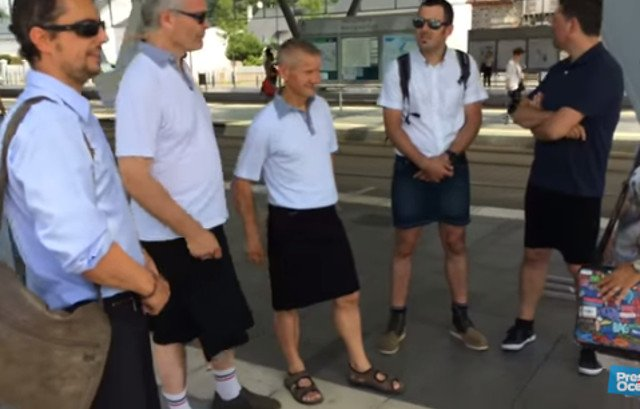 French bus drivers win right to wear shorts after pulling skirt stunt