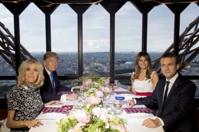 IN IMAGES: Donald and Melania Trump wined and dined at Eiffel Tower during Paris visit