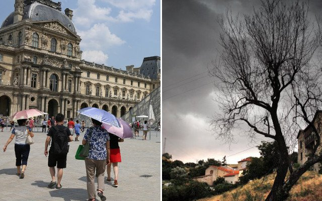 France on alert for roasting temperatures AND violent storms