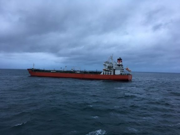 Tanker and cargo ship collide off Britain