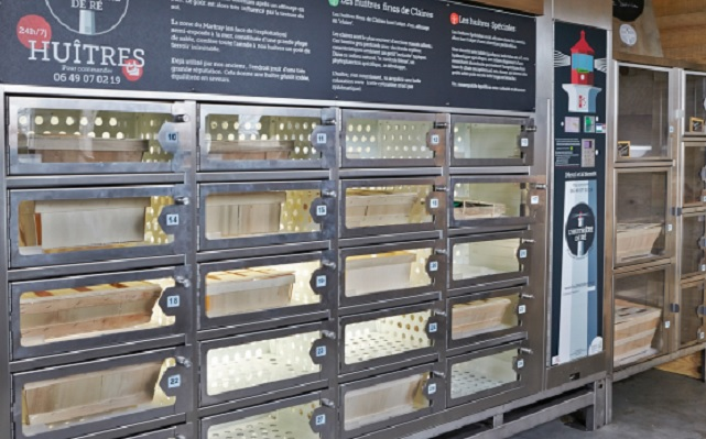 In France, you can get your oysters from a vending machine