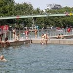 Paris canal swimming pool opens with a splash