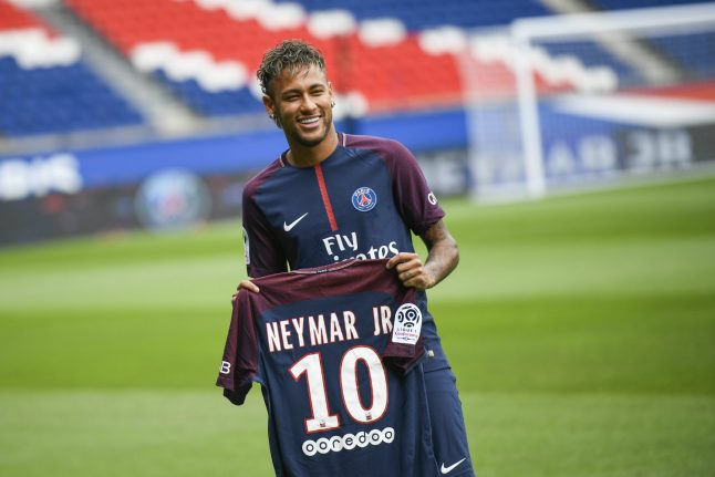 PSG sell 10,000 Neymar shirts on first day