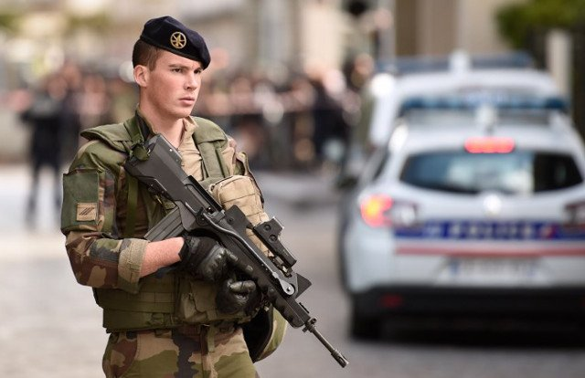 Man shot and arrested over car attack on anti-terror soldiers outside Paris