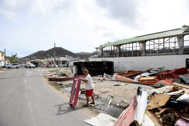 French aid efforts slowed amid bad weather and looting in Caribbean