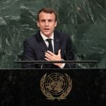 Macron stands up to Trump and offers very different vision of the world