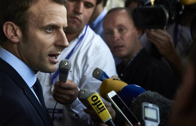 Macron says he's 'not interested in journalists'